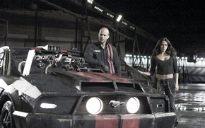 Picture Natalie Martinez, Natalie Martinez, man, Death Race, Death race, Jason Statham, girl, Jason Statham, actors