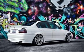 Picture graffiti, tuning, bmw, BMW, car, sedan, 3 series