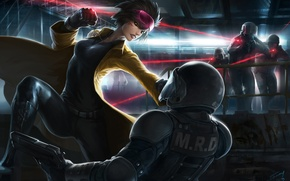 Picture weapons, Girl, soldiers, fight, swing, laser beams