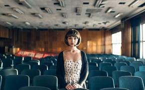 Picture girl, retro, cinema, Maxim Guselnikov, Karina Kim, Echoes Of USSR