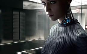 Picture fiction, Thriller, drama, 2015, Ava, Alicia Vikander, Out of the car, Ex Machina