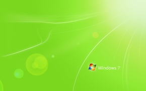 Wallpaper light, strips, green, green, color, minimalism, Windows 7, Hi-Tech