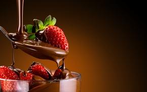 Wallpaper the sweetness, dessert, sweet, dessert, chocolate-covered strawberries, chocolate-covered strawberries