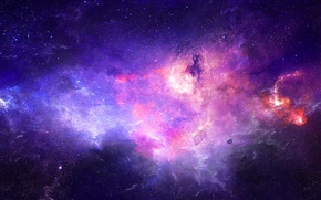 Picture planet, nebula, space, stars, art
