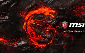 Wallpaper gaming, msi, dragon, logo