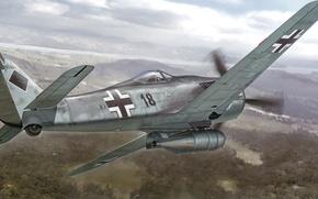 Picture war, art, painting, aviation, ww2, Focker-Wulf Fw 190 F-8 'KG200'