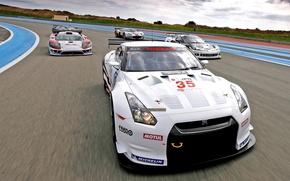 Wallpaper supercars, Nissan, Race