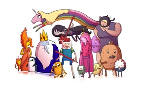 Picture adventure time, adventure time, marceline, BMO, tree trunks, gunter, susan strong, the ice king, peppermint …