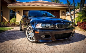 Picture lights, tuning, the hood, BMW, BMW, before, three, bumper, Drives, E46, 3 series
