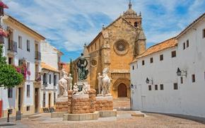Picture the sky, home, area, Church, Spain, Cordoba