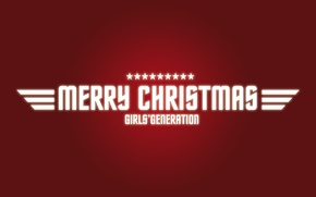Wallpaper holiday, new year, red background, merry christmas, girls generation
