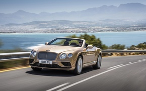 Picture road, machine, coast, Bentley, Continental GT, car, Convertible, 2016