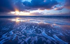 Picture wave, foam, the ocean, surf