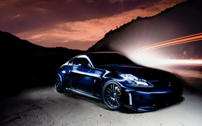 Picture blue, tuning, Nissan, 350z, Nissan
