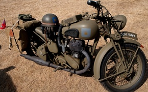 Picture coloring, The second world war, BSA M20, British motorcycle