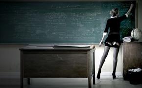 Picture twilight, the teacher, stockings