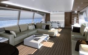 Picture luxury, salon, motor, yacht Ferretti 870