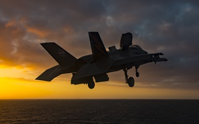 Picture dawn, fighter, the rise, F-35B