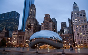 Picture building, home, skyscrapers, the evening, America, Chicago, USA, chicago