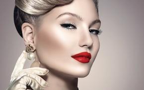 Picture look, girl, model, makeup, woman, retro, Anna Subbotina