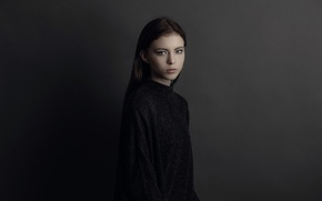 Picture portrait, the beauty, Nicole, Studio