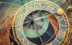 Picture clock, prague, astronomical