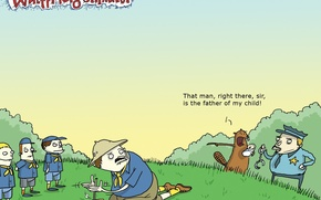 Picture humor, Wulffmorgenthaler, caricature, beaver, scouts