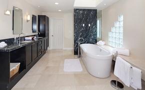 Picture design, furniture, mirror, bath, mansion, Design, Bathroom, Interior