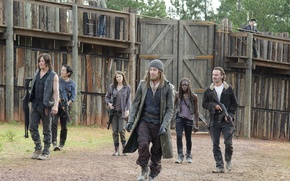 Picture group, heroes, The Walking Dead, The walking dead