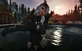 Picture skyrim, nord, the elder the scoll