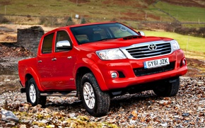 Picture England, Red, Japan, Machine, Stones, Wallpaper, UK, Japan, Red, Toyota, Car, Pickup, Auto, Hilux, Car, …