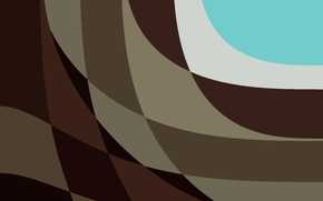 Picture white, line, abstraction, brown, turquoise, material, Lollipop