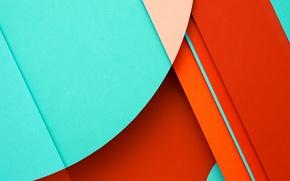 Picture Orange, Circles, Blue, Design, Line, Lollipop, Minimalistic, Material, Android 5.0