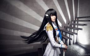 Picture girl, sword, form, cosplay, Kill La Kill, Satsuki Kiryu I