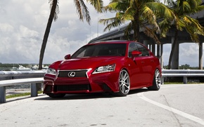 Picture Lexus, red, tuning, GS F