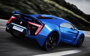 Picture car, supercar, supercar, blue, race, Lykan Hypersport, W Motors, UHD