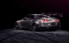 Picture car, tuning, Nissan, tuning, nissan gt-r, 1013mm, liberty walk