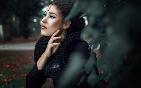 Picture look, girl, decoration, face, style, hand, portrait, makeup, Mary Maleficent
