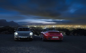 Wallpaper Carrera, porsche, the city, night, Porsche, Porsche, 911, dark