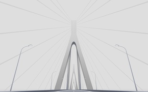 Picture road, bridge, minimalism, vector