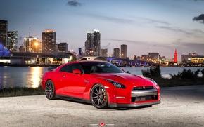 Picture machine, auto, wheels, drives, auto, Vossen Wheels, Nissan. GTR