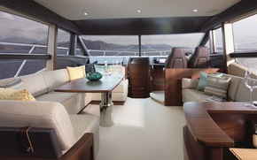 Picture luxury, yacht, cockpit, salon, motor