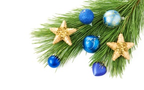 Picture decoration, tree, Christmas decorations