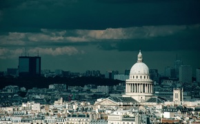 Picture the sky, clouds, clouds, the city, building, tower, Paris, home, France, paris, structure, france, country