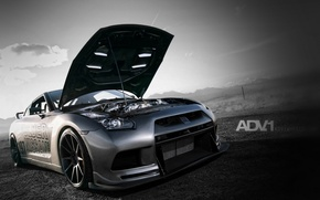 Picture Nissan, GT-R, Grey, Modified Vehicle