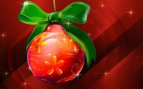 Wallpaper Christmas, Festive Christmas, Ball, Shinging