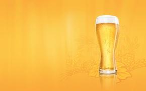 Wallpaper foam, beer, Glass, budweiser