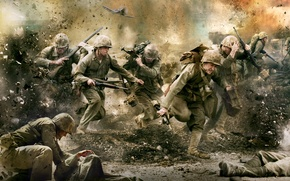 Wallpaper war, fighters, In the Pacific, people, The Pacific, military