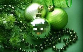 Wallpaper decoration, holiday, balls, New Year, Christmas, Christmas, New Year
