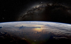 Picture earth, beautiful, Milky, hd planet